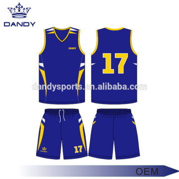 Maillots de basketball pour jeunes en polyester de conception simple