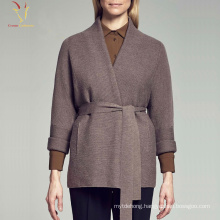 Women's Fashion Designed Cashmere Open Front Coat Plus Size
