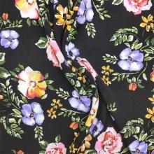 Woven Viscose Fabric Multi Floral Printed Fabric