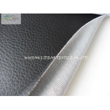 Black Lychee Embossed PU Leather AS026