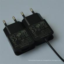 Plugue UE 7.5V 800mA / 12V 500mA Adaptador CA / CC