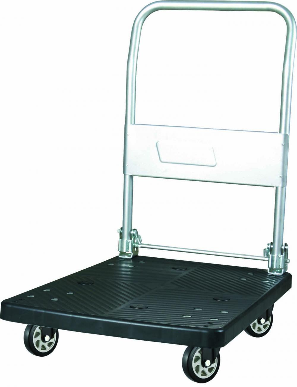 150kgs Plastic Platform Folding Hand Trolley Black