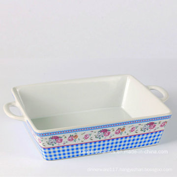 Custom Painting Color Glazed Ceramic Bakeware