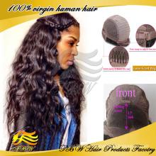 Pelucas delanteras del cordón ondulado largo brasileño del frente del cordón del pelo para las mujeres atractivas