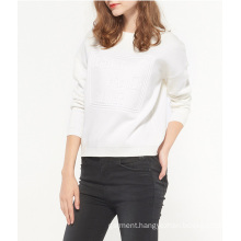 European Clothing Wholesale Ladies Fully Round Neck Knitwear