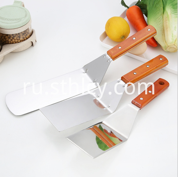 Wooden Handle Stainless Steel Pizza Shovel1