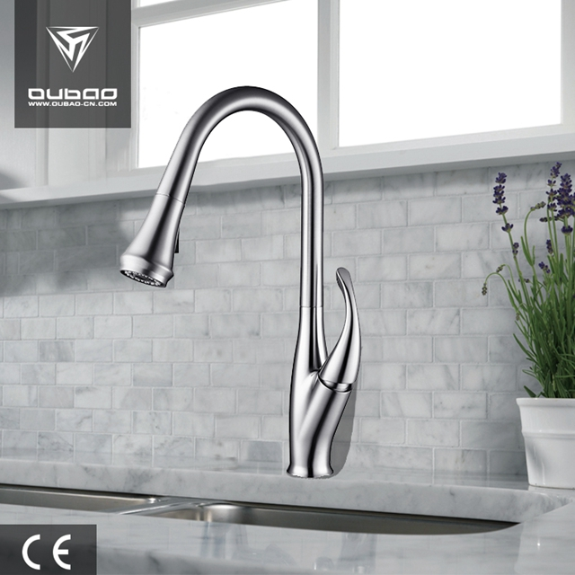 Polished Chrome Kitchen Sink Mixer Ob D51
