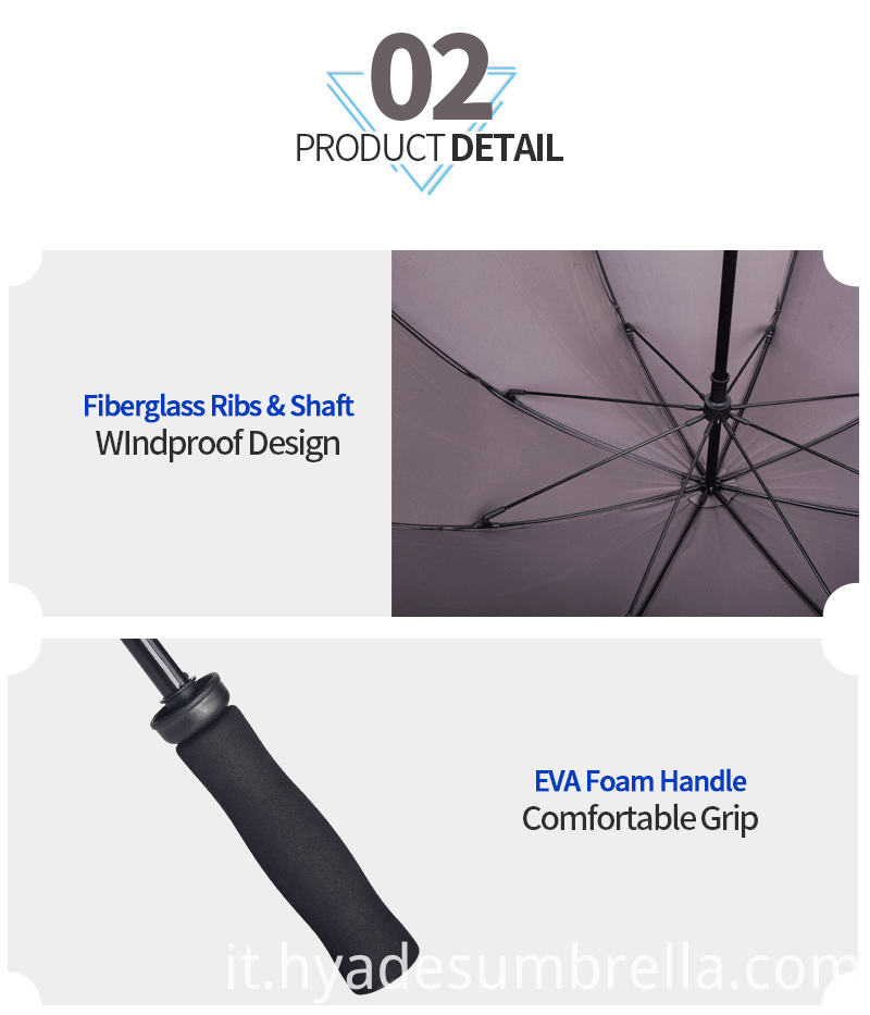 Dual Layer Straight Umbrella Eva Foam Handle