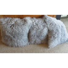 Tibetanisches Lamm-Pelz-Kissen einseitiger Pelz viele Farben