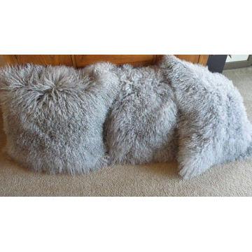 Tibetan Lamb Fur Pillow Single Sided Fur Many Colors