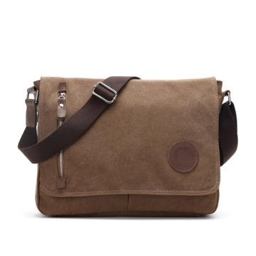 Mäns Vintage Canvas Satchel Shoulder Laptop Messenger Väskor