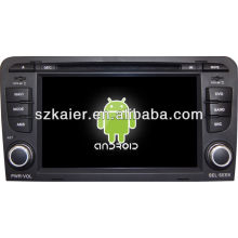 Android System car dvd player for Audi A3 with GPS,Bluetooth,3G,ipod,Games,Dual Zone,Steering Wheel Control