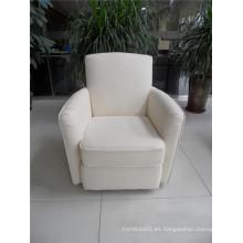 Sofá de salón con sofá moderno de cuero genuino (460)