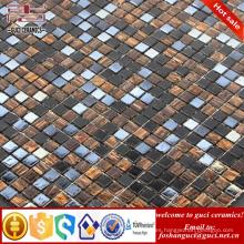 El vidrio mezclado de la fuente de la fábrica de China Caliente - derrite el diseño de la teja de la pared del piso del mosaico