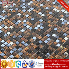 China factory supply mixed glass Hot - melt mosaic floor wall tile design