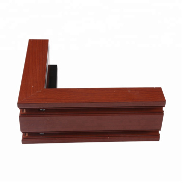 Wood Grain Aluminum Profile For Closet Wardrobe Door