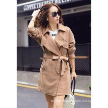2015 Autumn New Cotton Linen Ladies Long Jacket