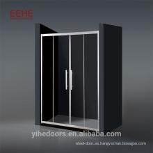 Cabina de ducha deslizante con marco de aluminio en forma de ventilador Ducha con cabina