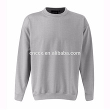 15PKSWT01 2016 winter thick knit sweater 60%cotton 40%poly CVC plain fleece sweatshirt