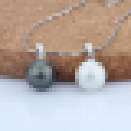 Women′s 925 Sterling Silver Fashion Shell Pearl Pendant Necklace