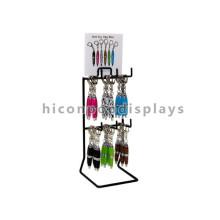 Custom Signage Metal Table Top 2-Tier 6 Hooks Hanging Creative Keychain Ballpoint Pen Display