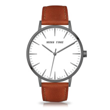 mininalist promotional quartz watch polish stainless steel case