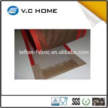 Tela de fibra de vidrio de PTFE recubierto de Teflón de alta temperatura para la máquina de impresión rotatoria