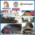 Prefebricated galvalume zic farbigen Stahl Bogen Stahl Gebäude