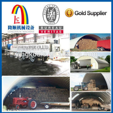 Prefebricated galvalume zic colored steel arch steel building