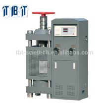 T-BOTA TBTCTM-2000 2000kN Manual Hand wheel Construction Máquina de ensayo de compresión de hormigón