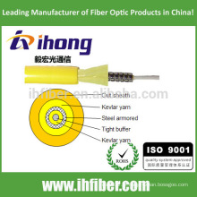 Cabo de fibra óptica blindado de fibra única