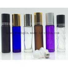 Garrafa cosmética de vidro do rolo do rolo do óleo essencial do curso colorido do OEM