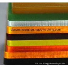 Feuille acrylique avec le film de PE ou le papier d'emballage