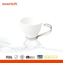 100ml modern drinkware white coffee ceramic cup