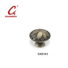 Furniture Hardware Bronze Knob Handles with Decorative Pattern