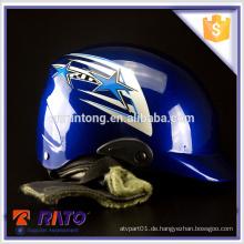 Hochleistungs-blauer Open-Face-Motorradhelm Großhandel