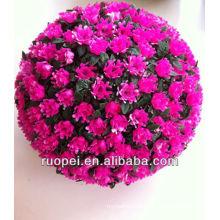 Yiwu atacado alta qualidade decorativa linda flor artificial bolas