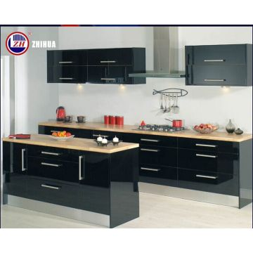 Modern Laminated Kitchen Cabinet with Acrylic / Lacquer /UV Surface Treatment (zhuv)