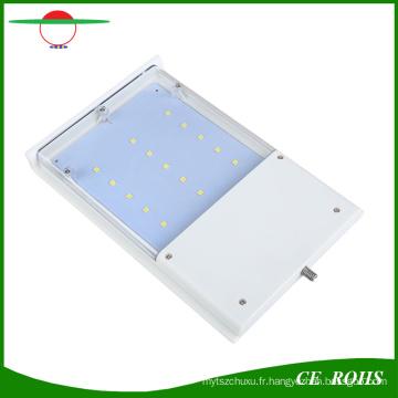 Lampe rechargeable solaire rechargeable de détecteur de mouvement 15 LED imperméable à l'eau extérieure sans fil de mur solaire
