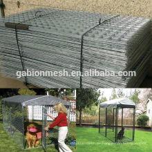 Schlussverkauf! Outdoor Galvanisierte Edelstahl Hund Zwinger und Eisen Zaun Hund Zwinger / Käfig zum Verkauf