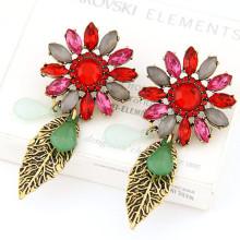Heiße verkaufende kundenspezifische übertriebene barocke preiswerte Blumen-Ohrringe