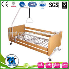 High quality MDF side rails five function nursing wooden electric bed