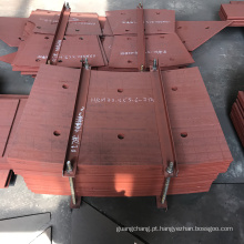 Forro de revestimento duro para indústria de cimento
