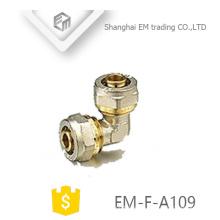 EM-F-A109 Rohrverschraubung aus Messing mit gleichem Winkel