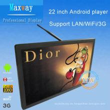 21,5 pulgadas android red inalámbrica publicidad de la exhibición