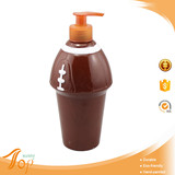 Rugby Design Plastic Bottle With Pump Dispenser