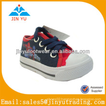 China boys injection canvas shoes