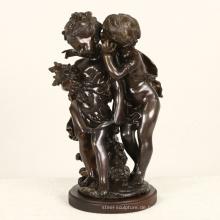 zwei Kinder Metall Französisch Statue Auguste Moreau berühmte Bronzeskulptur