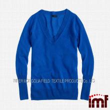 Новая мода женщин V-образным вырезом свитера 2014