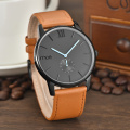 big face leather band mens watches